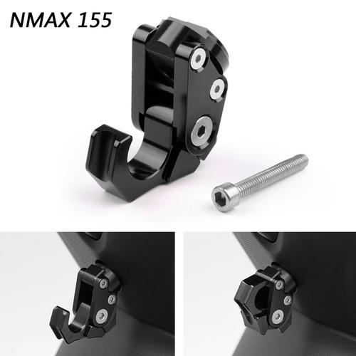 Carry Helmet Bottle Hanger Holder CNC Aluminum Alloy Hooks For Yamaha NMAX 155 2015-2019 Black