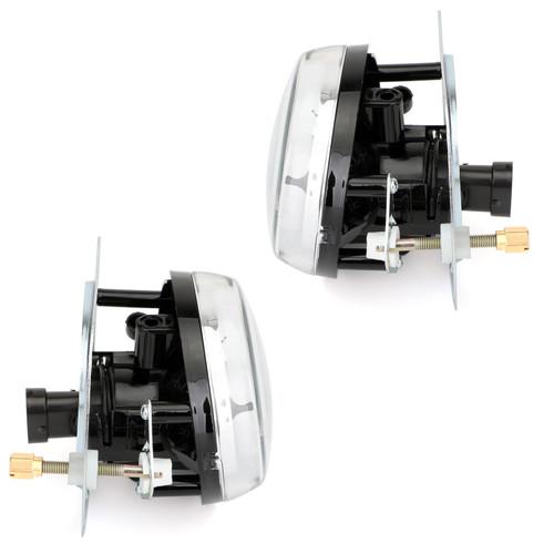 2 PCS Bumper Fog Front Light Lamp W/Bulb For Benz C300 C350 CL550 CL600, CL63 CL65 SL63 SL65 SLK55 AMG