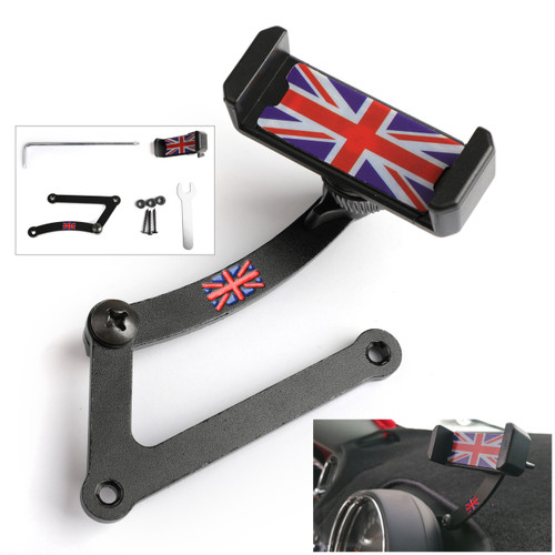 Union Jack Car Phone Mount Folding Holder For Mini Cooper R55 R56 R57 R60 R61,F54 F55 F56 F57 F60 Red&Blue
