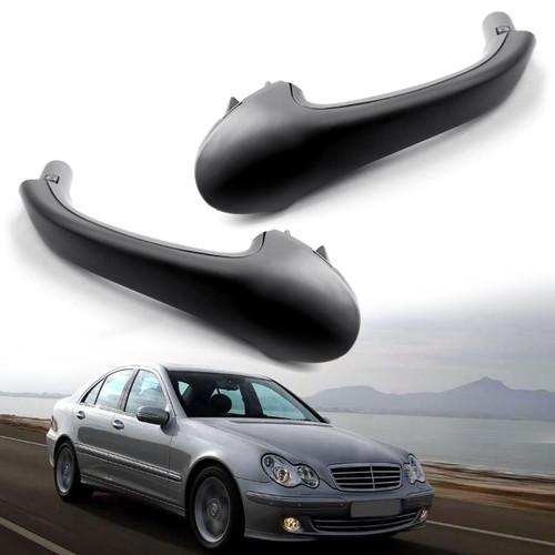 2PCS Front Interior Door Pull Handle OE For Mercedes-Benz W203 C-Class Black