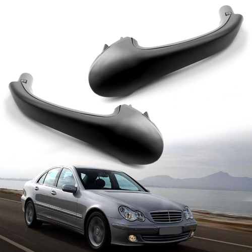 2PCS Front Interior Door Pull Handle OE For Mercedes-Benz W203 C-Class Black
