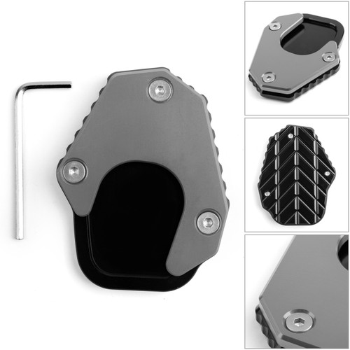 Kickstand sidestand stand extension enlarger pad For HONDA CRF250 RALLY 17-19 Gray