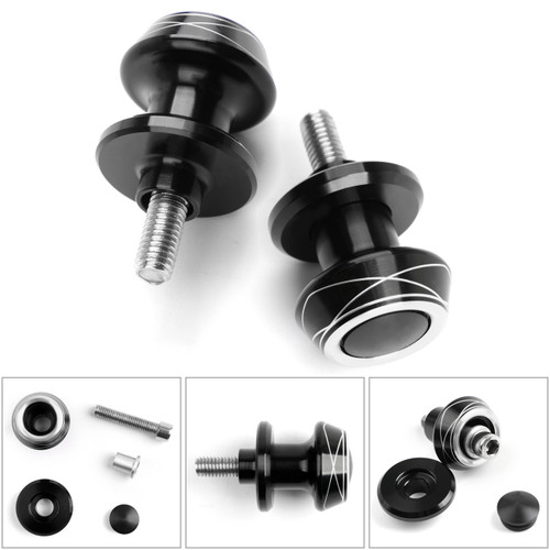 1 Pair 8mm Moto CNC Swingarm Swing Arm Spools Spool Sliders For Suzuki Honda Silver