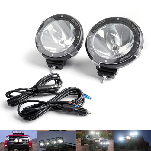 2X HID Xenon Spot Beam Bulb Driving Off Road 7Inch Working Light Lamp 6000K Clear