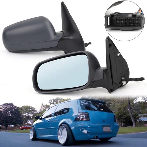 Pair L&R Electric Wing Side Door Mirror For Volkswagen VW Golf Bora Mk4 1998-2005
