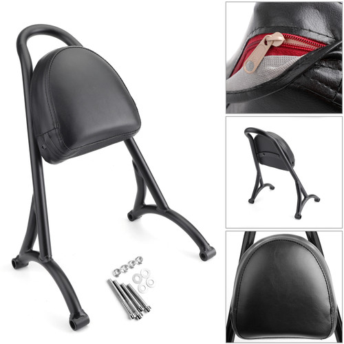 Sissy Bar Backrest w/Pad For Harley Sportster Iron Nightster 883 1200 XL Black