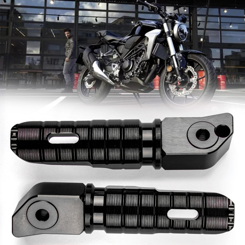 Rear Footrest Footpegs For HONDA CB125R CB250R CB300R CBR250RR CBR600RR Black