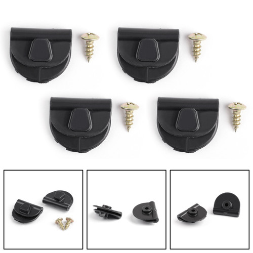 4pcs Side Battery Cover Clips for Harley Sportster 04-18 XL883 XL1200