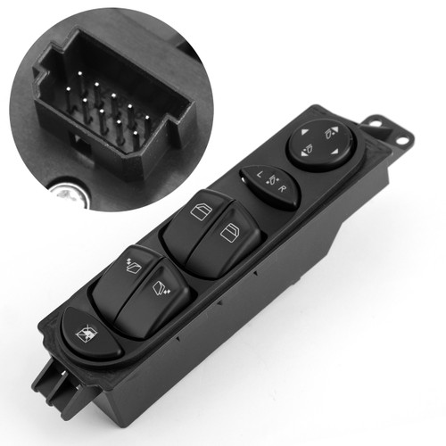 Power Window Switch Driver Side A6395451313 For Mercedes Benz Viano Vito W639 Black