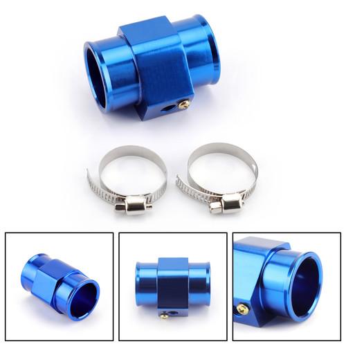 40mm Water Temp Joint Pipe Temperature Gauge Radiator Adapter Hose Sensor Blue