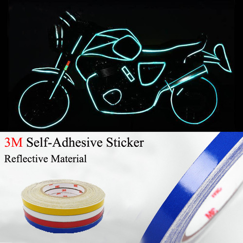 3M Reflective Body Stripe Trim DIY Sticker Tape Sticker Decal 1CMx150FT Blue