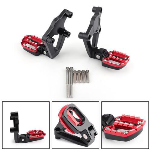 Folding Footrests Foot Pegs Rear Pedals For Honda X ADV X-ADV 750 17-18 Red