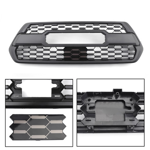 TRD Pro Style Grille with Garnish ACC DRCC Sensor Cover for Tacoma 2017-2019 PT228-35170 + 53141-35060