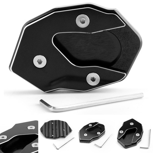 Kickstand side stand extension enlarger pad For KAWASAKI Versys-X300 17-18 Black