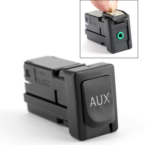 Auxiliary Aux Stereo Adaptor 86190-02010 For Toyota Avalon 07-11 Corolla 09-13 Highlander 10-11 RAV4 09-12 Black