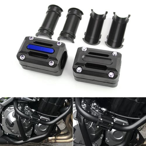 22mm 25mm 28mm Engine Frame Bar Slider Pads Blue