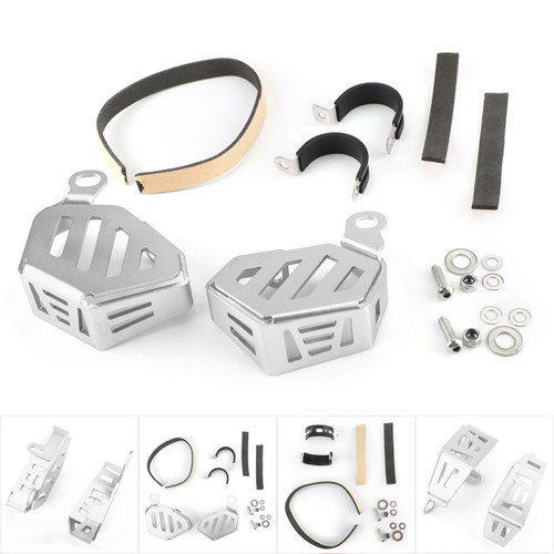 Brake Fluid Clutch Reservoir Guard F&R For BMW R1200GS LC R1200GS LC ADV 14-17 R NINET 14-16 Silver