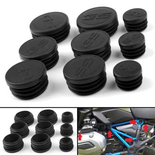 Frame Hole Cover Caps Plugs Decor Set For BMW R1200GS/LS/ADV 2017-2018 Black