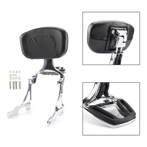 Rear Passenger Backrest Pad Sissy Bar Cushion For Sportster