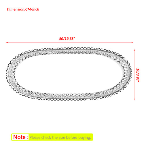 Drive Belt For Ski-Doo Formula Legend Touring MXZ Skandic 414860700 415060601 Black