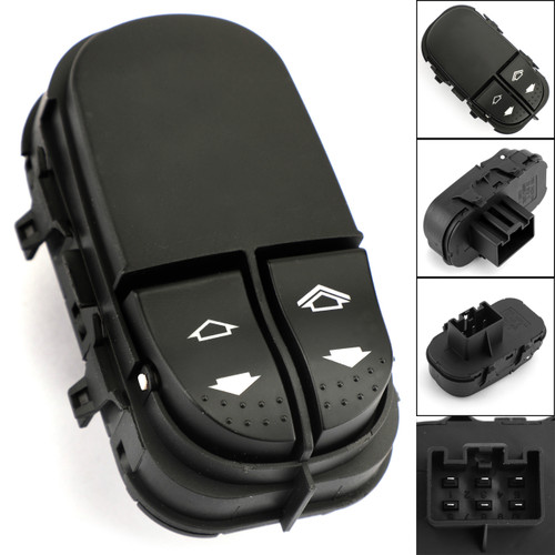 Master DRIVER SIDE Window Switch 6 PIN YS4T-14529AA For Ford Focus MK1 Master DRIVER LEFT SIDE 98-05 Black
