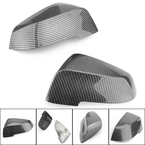 Carbon Fiber Mirror Cover Cap Replace Style For BMW 5 Series F10 F11 14-16 6 Seires F12 F13 F06 2014+ 7 Series F01 12-15 Carbon