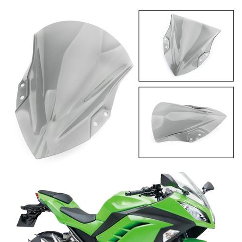 ABS Plastic Windshield Windscreen For Kawasaki Ninja 250 400 2018 Gray