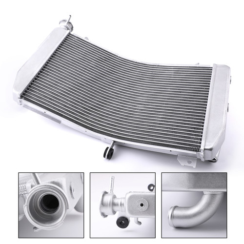 Aluminum Cooler Cooling Radiator For Yamaha YZF R1 YZF R1M 15-17 YZF R1S 16-17 Silver