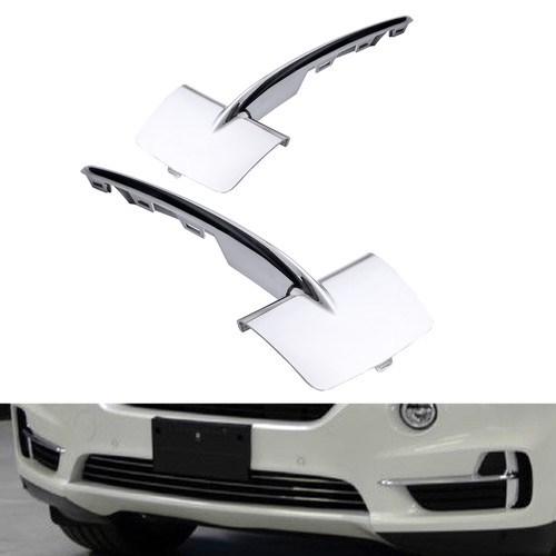 Front Bumpe Lower Grille Trim Molding For BMW F15 X5 14-18 Chrome
