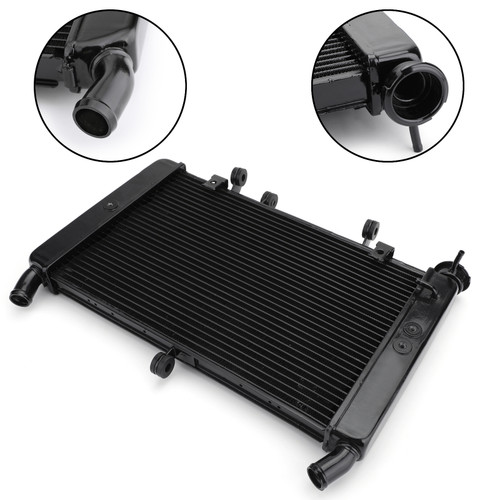 Cooler Aluminum Cooling Radiator For Yamaha MT-09 FZ09 14-16 Black