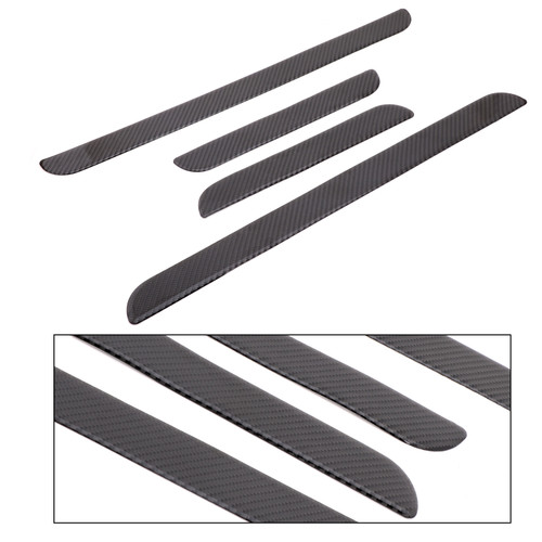 Door Sill Panel Plate Trim For Honda Civic 10th 16-18 Carbon