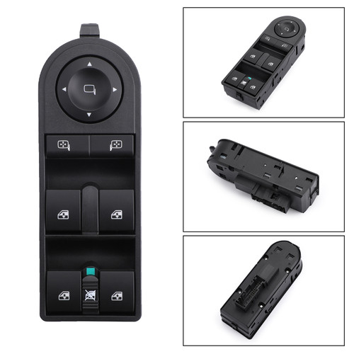 Electric Power Window Control Console Switch For Astra 04-14 Zafira 04-15 Black