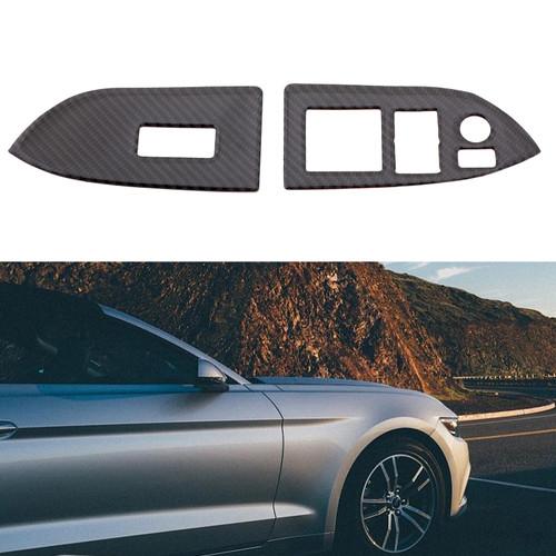 Fiber Window Switch Buttons Frame Cover Trim For Toyota 86 Subaru BRZ 2015 Carbon