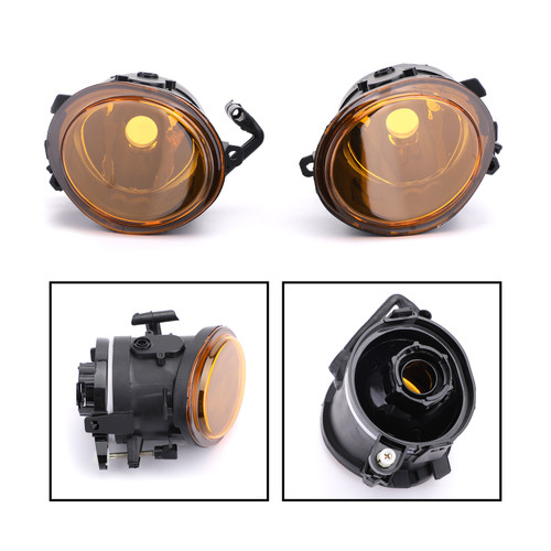Front Bumper Lens Fog Light For BMW E46 3-Series Sedan Wagon Models W Sports Package Only E46 M3 Coupe Convertible Models Only 01-05 Yellow