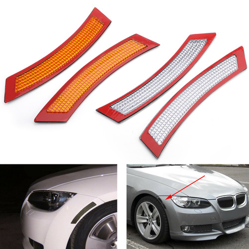 Front Bumper Reflector Side Marker For BMW 3 Series E92 E93 2DR Coupe Convertible 07-13 White