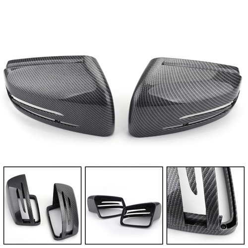Fiber Rearview Mirror Cover For Benz A/B/C/E/S-CLASS Carbon
