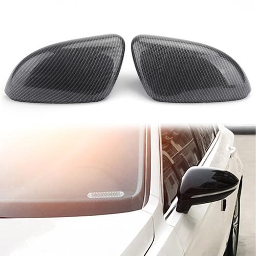 Door Wing Mirror Cover For Beetle 12-18 CC Scirocco 09-17 Eos 09-16 Passat 11-15 Carbon