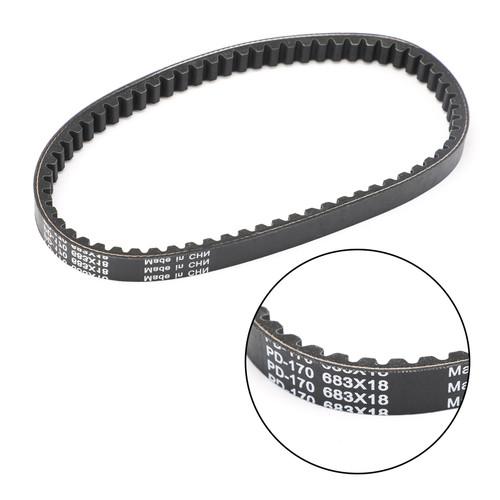 Primary Drive Clutch Belt For Kawasaki KSF50 KFX 50 07-19 Kymco Mongoose 50 03-07 Black