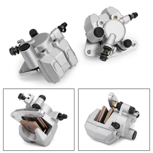 Front Brake Caliper Set For Yamaha 5LP-2580T-00 YFZ350 02-09 YFZ350SP 06 YFZ350SE  YFM35BA 05-06 YFM350FWA 07-16 YFM400 03-04  Wolverine 450 06-10 Silver