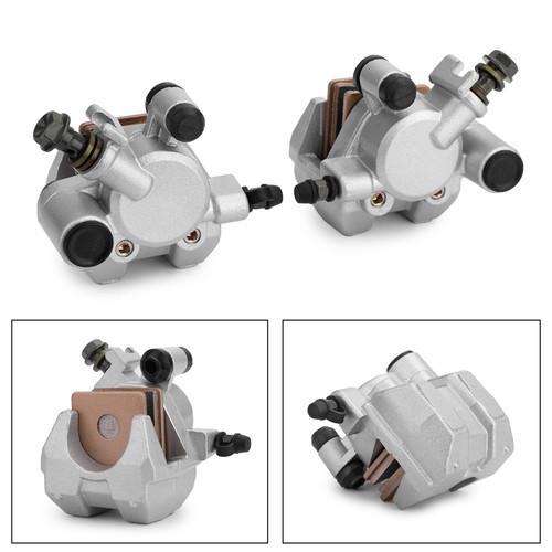 L&R Front Brake Caliper Set For Yamaha 4WV-2580T-00 YFM600F 00-01 YFM600FW 98-99 4WV-2580T-10 YFM660FA 02-08 Special Edition 04-06 Silver