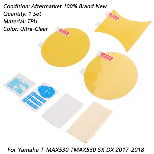Cluster Scratch Protection Film Screen Protector For Yamaha T-MAX530 TMAX530 SX DX 17-18 Clear