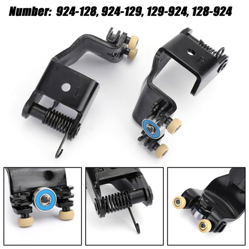 Pair Left & Right Center Mount Sliding Door Rollers For Honda Odyssey 5-10 Black