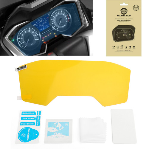 Anti-Glare Ultra Clear Dashboard Screen Protectors For Honda Forza300 2018 Clear