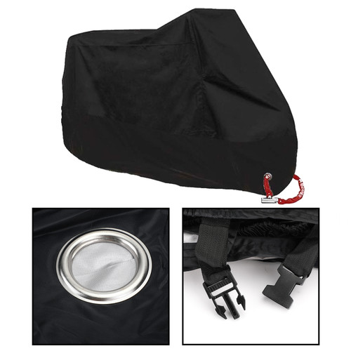 Motorcycle Cover Waterproof Outdoor Rain Dust UV Scooter Black