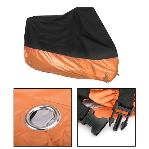 "3XL 104""Scooter Outdoor Rain Dust Scooter For Dyna Electra Glide Black Orange"