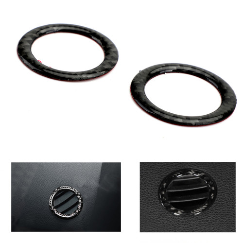 Dashboard outlet decoration ring Trim For Benz C Class W204 07-14 Carbon