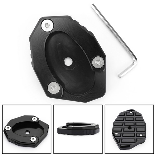 Kickstand Side Stand Plate Extension Pad For KAWASAKI Z900RS CAFE 18-19 Versys 1000 17-18 Black