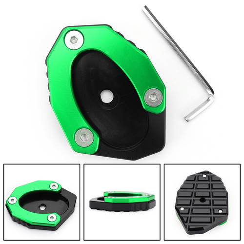 Kickstand Side Stand Plate Extension Pad For KAWASAKI Z900RS CAFE 18-19 Versys 1000 17-18 Green