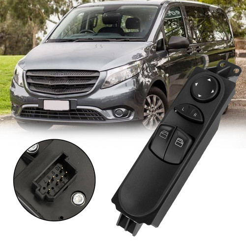 Front Power Master Window Switch A6395450913 For Mercedes Benz Valente Vito Mixto W639 03-15 Black