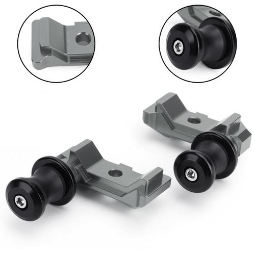 CNC Chain Adjuster Block W Swingarm Spools Slider For YAMAHA MT-07 FZ-07 14-18 Titanium